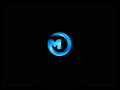Metalon metal on symbol sign icon logo brand 7gone reflect refract shine gloss web2.0 mo initials blue