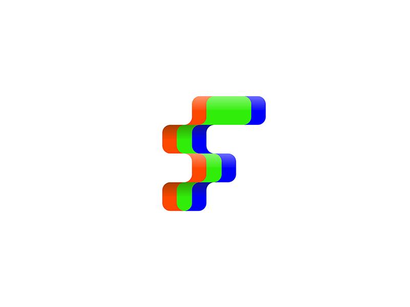 letter f (wip) 7gone pixels led brand icon logo video tv television film  cinema