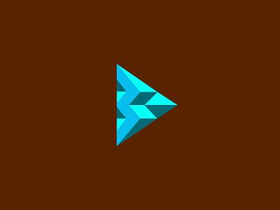 Triangle (Unused Logo) logomark icon logo mosaic letter b button play sharp block