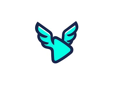 Learn with Seahawk angel symbol seahawk 7gone button logomark icon logo teach watch fly simple learn play wings hawk bird