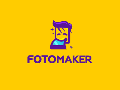 FotoMaker logo simpsons selfies photobooth smile tongue boy character picture photo master fotomaster fotomker