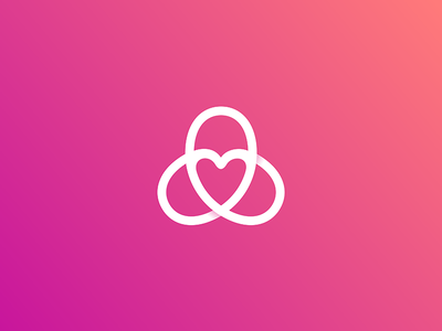 Heart Logo 7gone symbol mark logo twist overlapping celtic knot porn sex love group celtic heart