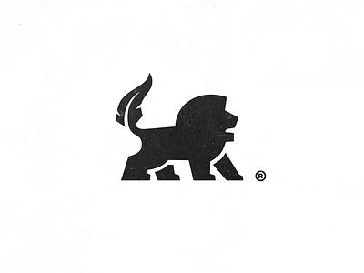 Leo Script royal 7gone tiger tail brand logo pen ink animal lion feather books author script