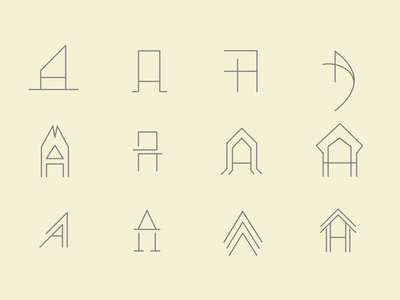 'A' letter Exploration vector illustration exploration icon logo style outline typography font minimalistic line lettering abstract simple design