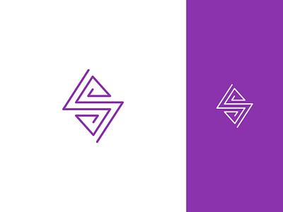 S monogram mark symbol monogram lettering line logo line art line design icon concept logomark lettermark abstract logo