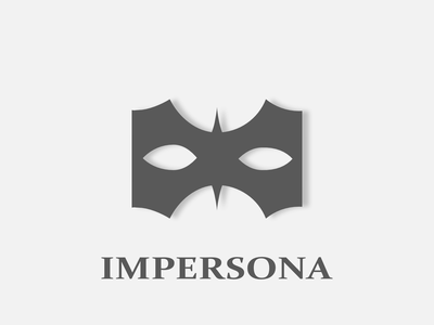 Impersona - VPN logo concept wordmark minimalistic concept branding logomark mark design simple abstract mask logo