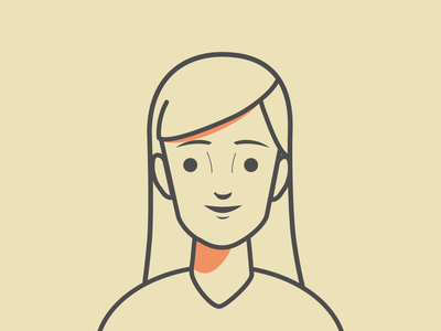 Character design #2 - Line Style avatar line line style girl character clean simple illustration outline design