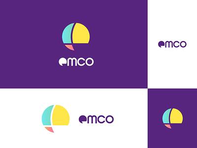 EMCO - Lowercase E logo branding lettermark clean colorful abstract simple lowercase design logo letterform