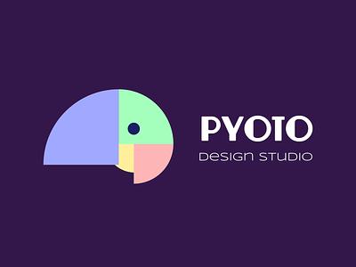 Pyoto - Logo bird logomark concept abstract colorful modern clean branding simple design logo