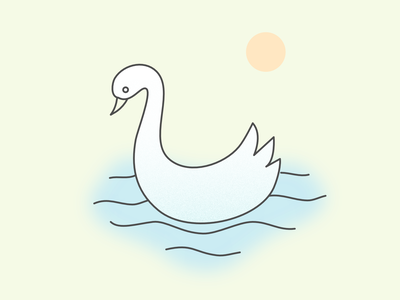 Mini Illustration - Swan outline art vector clean relaxing swan mini illustration simple