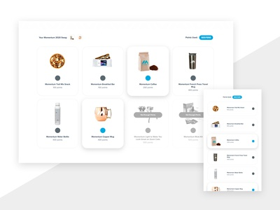Product Selection Interface landing page hubspot material cards quiz ux ui web website
