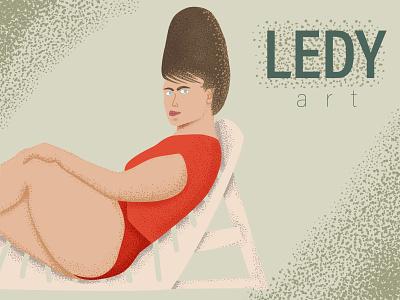 ledy poster retro design retro vintage design vintage art brush designer portfolio designeveryday artwork lady