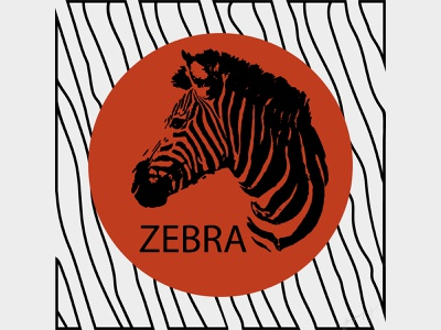 zebra art minimum red sun style savannah african animals africa artist art zebra art