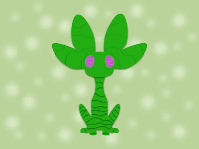 NVIDIA unofficial mascot 2d art 2d character mythical creature. beast mythical creature nvidia unofficial mascot