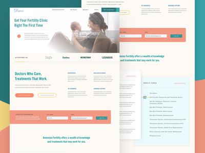 Fertility Website Concept