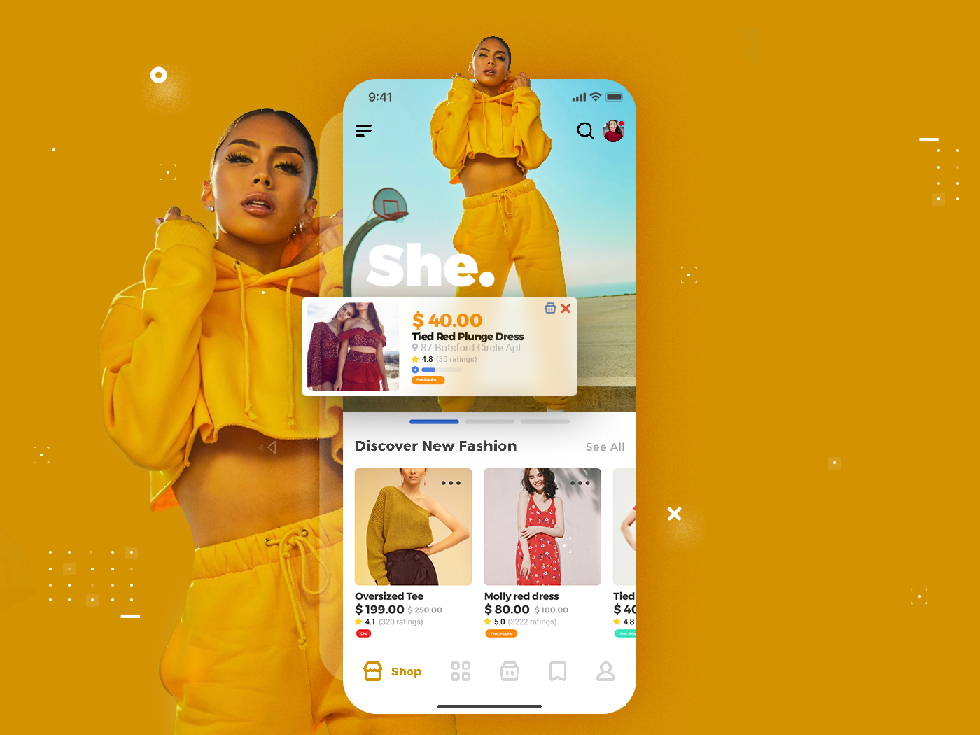E commerce Ui App - She uidesign ecommerce ui ecommerce business ecommerce shop ecommerce app ecommerce design ui designer uiux ui designs ui kit ui ressources ui design app branding ux ui minimal design illustration