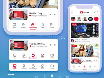 Youtube app redesign - Navigation 😎 uxdesign ui kit icons pack iconset icons app design icon ui web ios guide app designer app design freebie freebies redesign concept redesigned redesign ui design uiux uidesign navigation menu navigation bar ui youtube