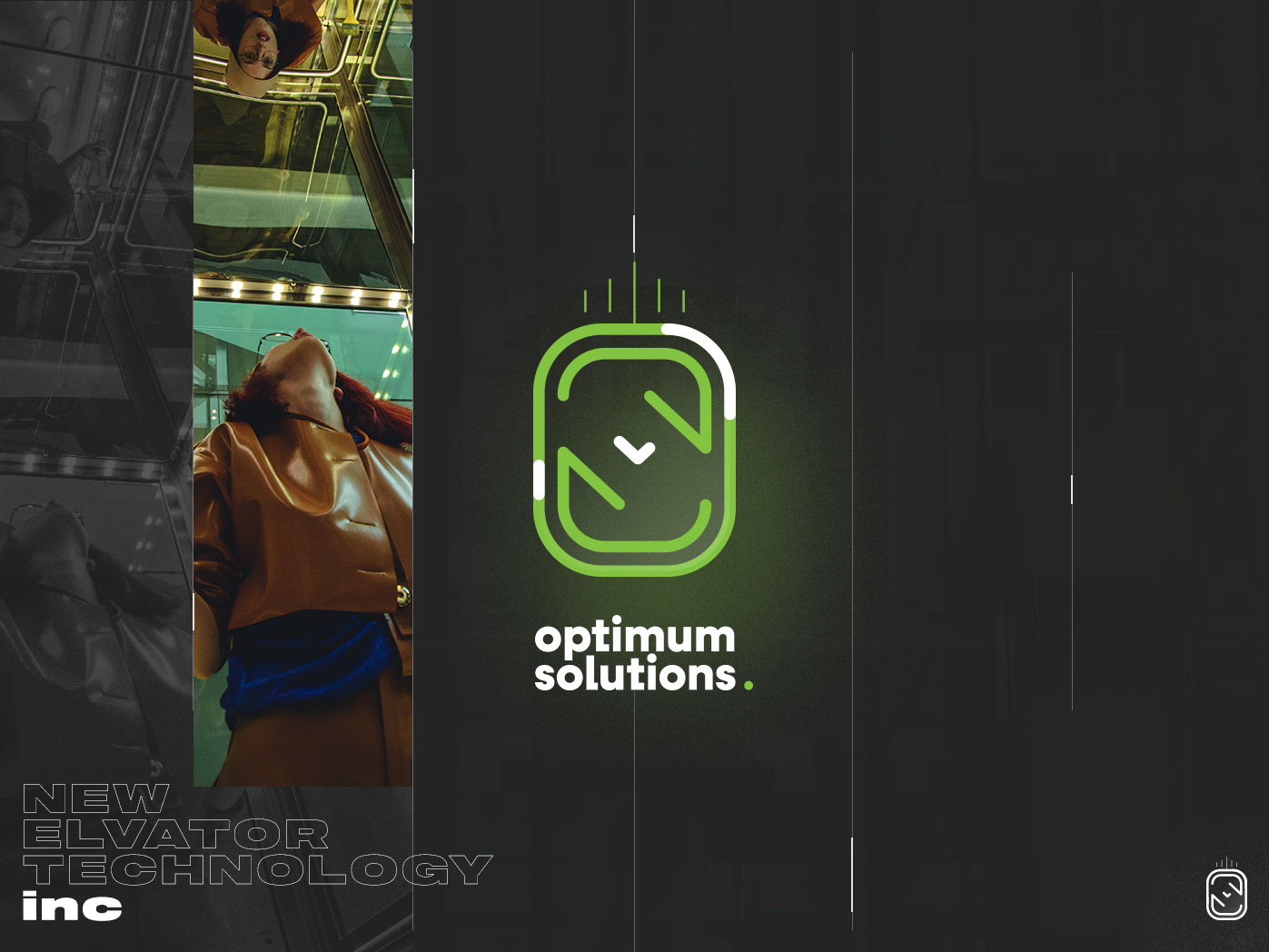 Optimum Solution Logo ✔️ branding design brand identity elevated elevator typography vector branding logo design concept illustrator logo concept logo illustration brandig minimal logo design design