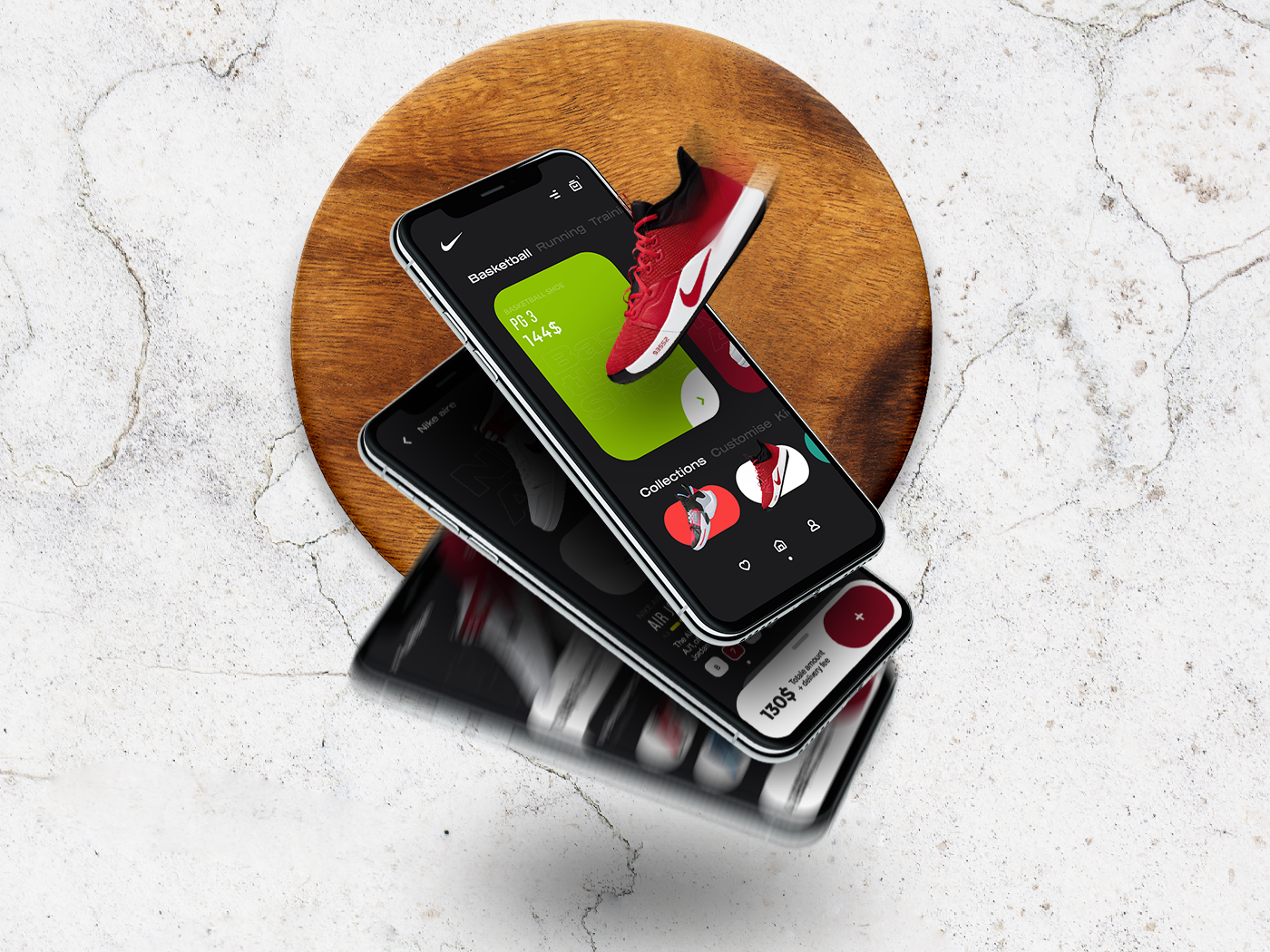 Nike store UI/UX - Freebie🚀 store ui store design shoe design nike nike air nike running nike air max app designer user experience user interface app design ui  ux ux uidesign illustration uiux ui design minimal ui design