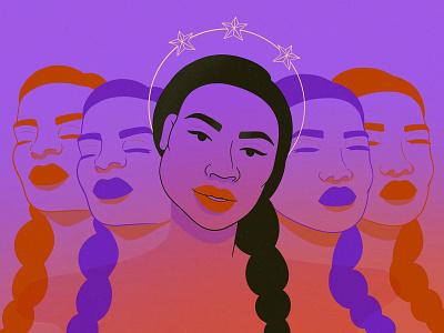 ✧ multidimensional ✧ time space colors woman multidimensional