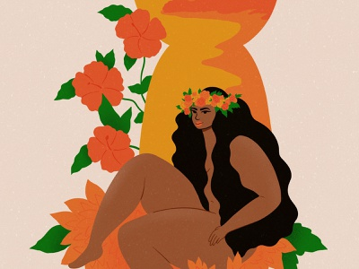 island girl flower crown floral flowers islanders island women woman colors