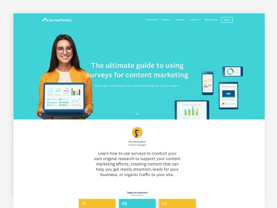 Ultimate Guide To Content Marketing data design data science content strategy viral guide ultimate long form guide ultimate long form article surveymonkey education marketing creation content creation content
