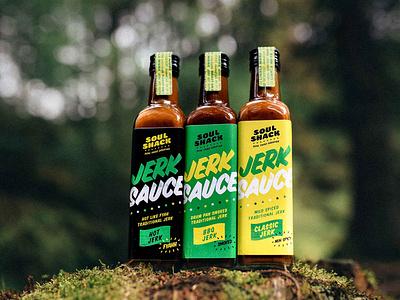 Soul Shack   Jerk Sauce Packaging Branding jamaican restaurant restaurant branding street food logo identity branding typography