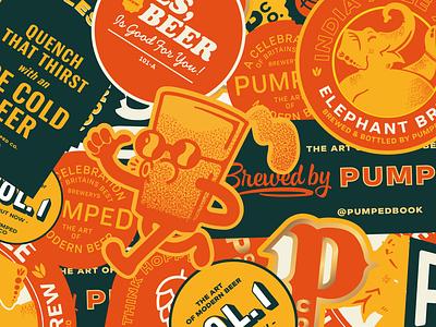 Pumped Brewery Branding street food kickstarter merch stickers restaurant branding restaurant identity branding lucas jubb