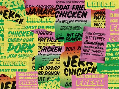 Street Food Branding Poster jerk street food start up restaurant branding lucas jubb type gradient typography poster caribbean jamaica