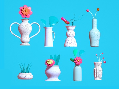 Plants and Vases