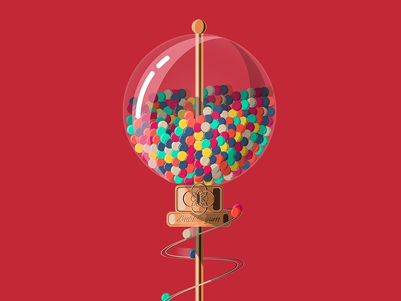 Candy Machine poster sweet vector surreal illustration candy