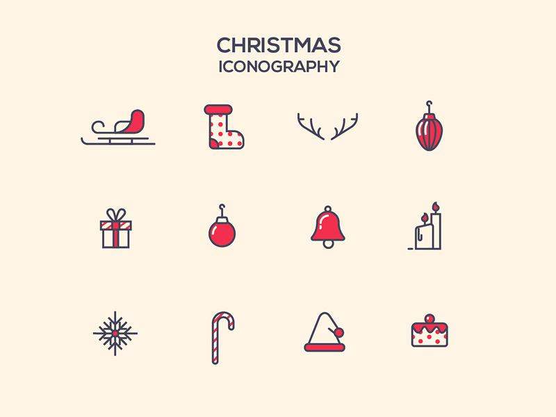 Christmas Icons logo stroke symbol december christmas line iconography icon