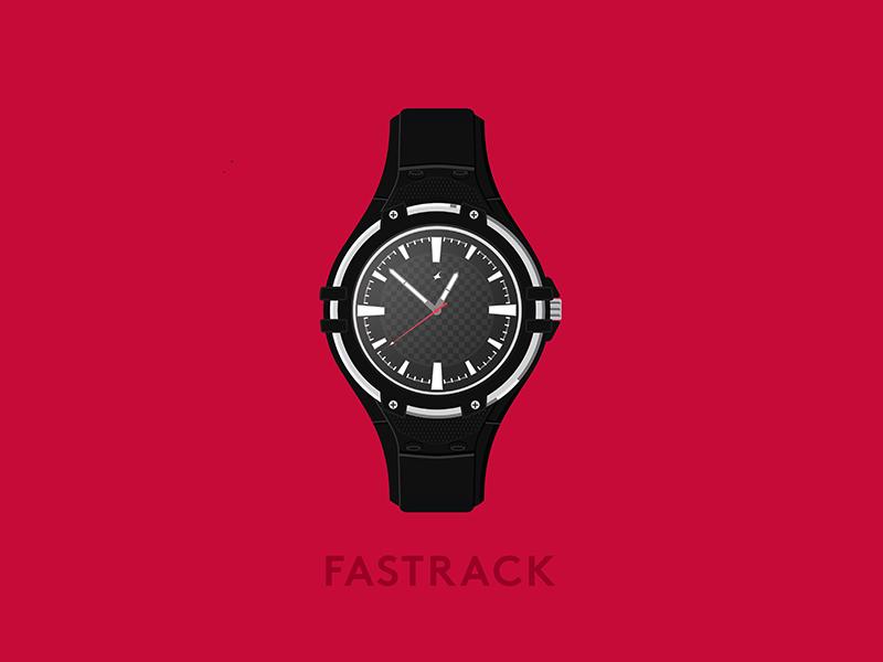 Fastrack! art vector clock illustration surreal fastrack watch