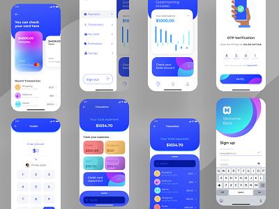 Money App money mobile app bank appllication fintech design website uiux graphic design ui branding logo