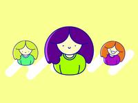 Illustration of 3 sisters