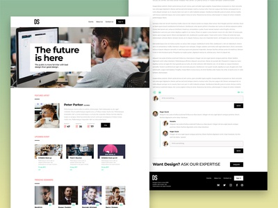 Webpages for design campaign