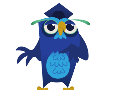 Wisest Owl Ever character design comic funny illustration cartoon