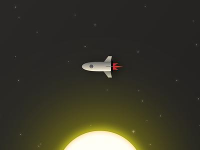 Spaceship stars sun space spaceship