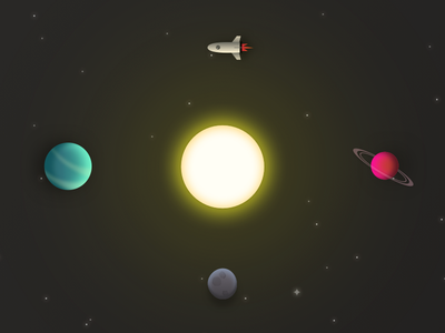 Space asteroid spaceship planet sun space