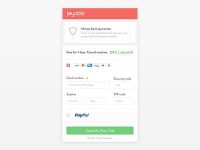Joyable Checkout Mobile iphone 6 credit card form mobile checkout joyable