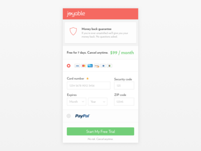 Joyable Checkout Mobile