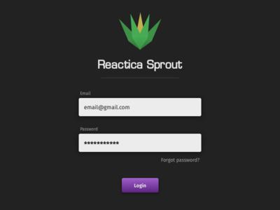 Reactica sprout react fira sans text input login form button