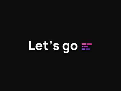 Let's Go Design web app software design software development react saas agency logo