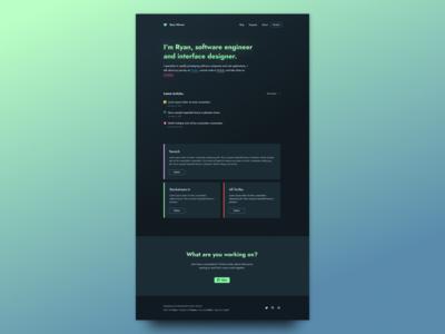 ryan.warner.codes - Personal site redesign