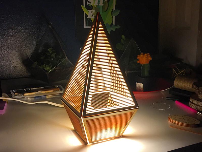Laser Cut Lamp By Sarah Garrison Dribbble Dribbble