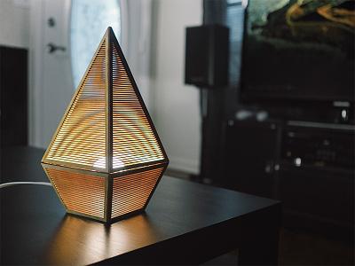 Lamp One wood product photography 3d lamp light geometric industrial design product design lasercut laser cut
