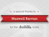 Thank you Maxwell Barvian for the invite!