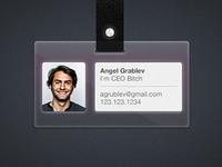 Badge Card Plastic