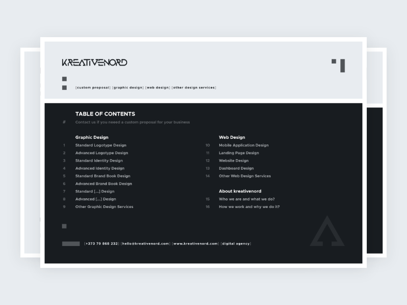 Kreativenord Proposal Design By Nicolae Chiorescu On Dribbble