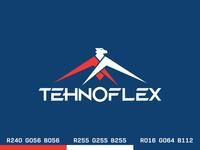 tehnoflex logotype design